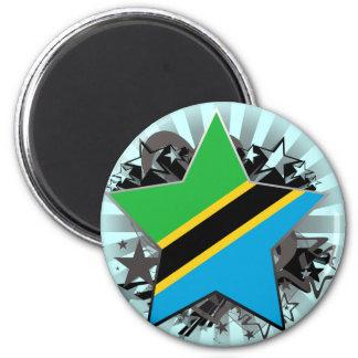 Tanzania Star Refrigerator Magnets