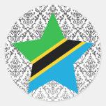 Tanzania Star Round Sticker