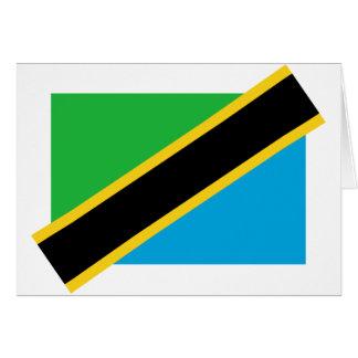Tanzania, Tajikistan flag Greeting Card