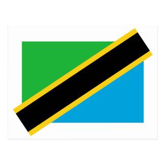 Tanzania, Tajikistan flag Postcard