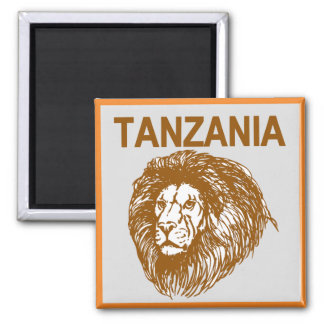 Tanzania With Lion Magnet