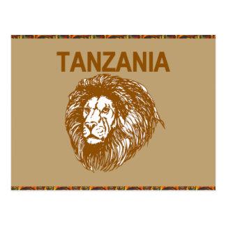 Tanzania With Lion Postcard