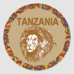 Tanzania With Lion Sticker
