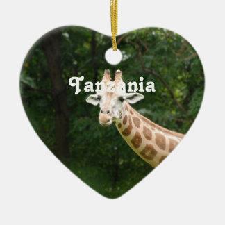 Tanzanian Giraffe Christmas Ornament