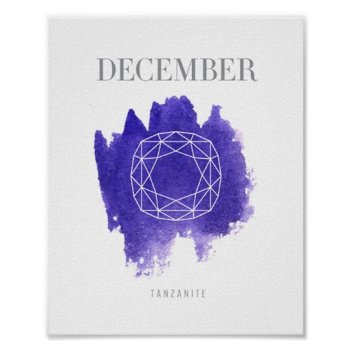 Tanzanite Birthstone December Poster