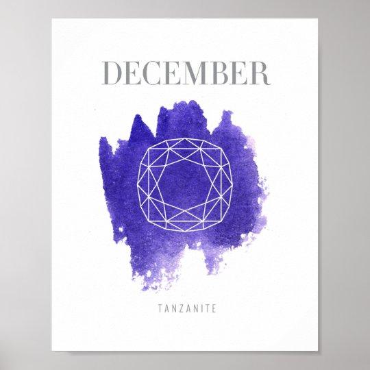 Tanzanite Birthstone December Poster