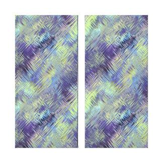Tanzanite Blue Liquid Pattern Canvas Print