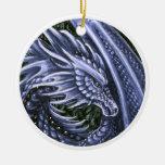 Tanzanite Dragon Ornament