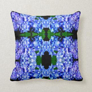 Tanzanite Hydrangeas mandala Cushion