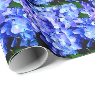Tanzanite  Hydrangeas Wrapping Paper