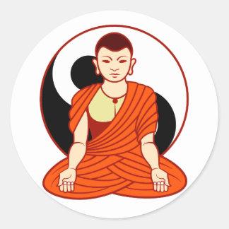 Tao monk Dao monk Round Sticker