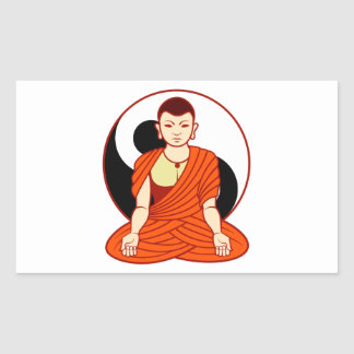 Tao monk Dao monk Rectangular Stickers