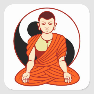 Tao monk Dao monk Square Stickers