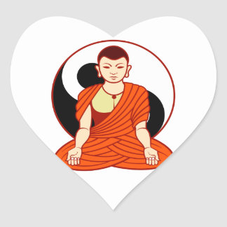 Tao monk Dao monk Heart Stickers