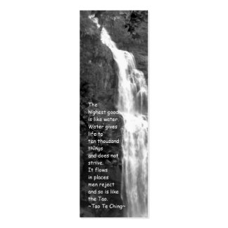 Tao Te Ching Bookmark/Photography Pack Of Skinny Business Cards