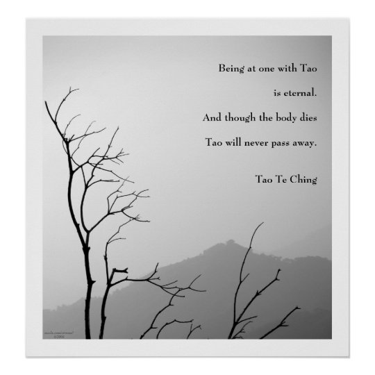 Tao Te Ching No.1 / Poster