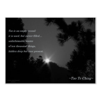Tao Te Ching No 3 Poster Print