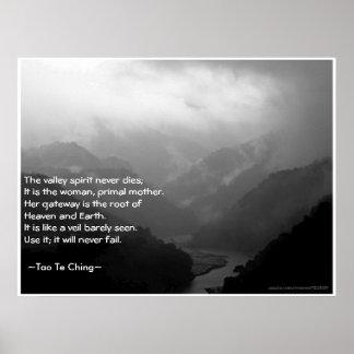 Tao Te Ching No 6 Poster Print