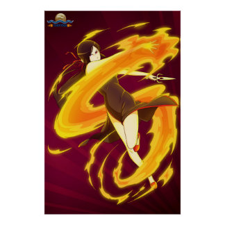 TAOFEWA - Gabija Fire Spin Poster