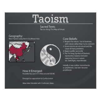 Taoism Chalkboard Poster *UPDATED*