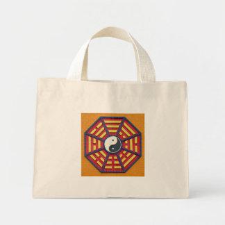 Taoist Octagonal Symbol in Bright Colors Mini Tote Bag