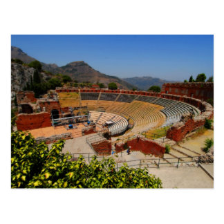 Taormina amphitheater 1 postcard