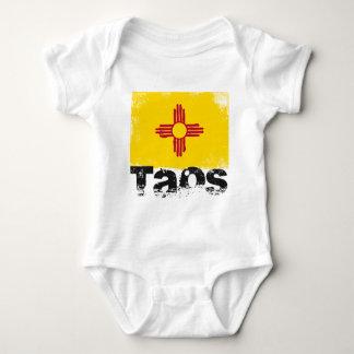 Taos Grunge Flag Baby Bodysuit