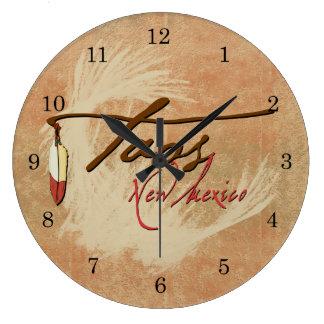 Taos, New Mexico Large Clock