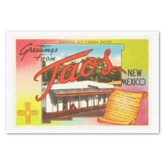 Taos New Mexico NM Old Vintage Travel Souvenir Tissue Paper