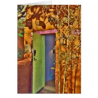 Taos New Mexico Open Door #2 Card