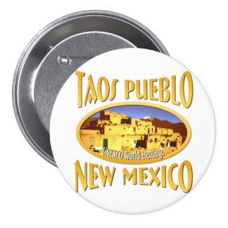 Taos Pueblo New Mexico 7.5 Cm Round Badge