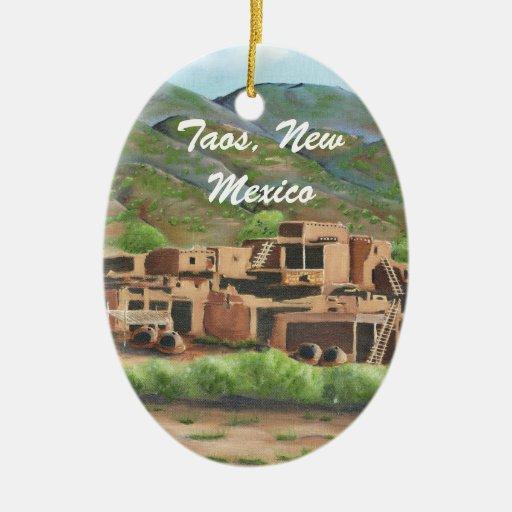 Taos Pueblo, New Mexico Ornament