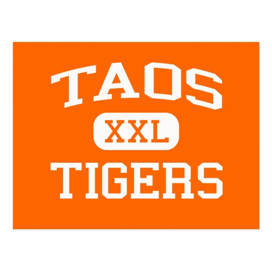 Taos - Tigers - Taos High School - Taos New Mexico Postcard