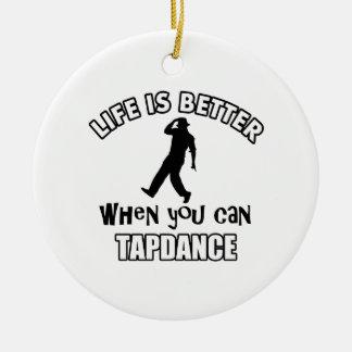 Tap dance Designs Christmas Ornament