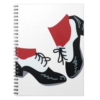 Tap Dance Spiral Note Book