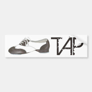 TAP Dance Teacher Black and White Oxford Shoe Gift Bumper Sticker