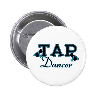 Tap Dancer Black and Blue 6 Cm Round Badge