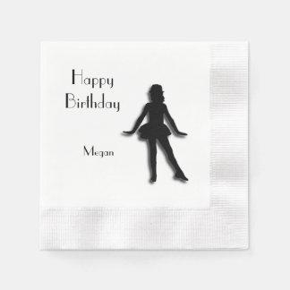 Tap Dancer Happy Birthday Paper Napkin