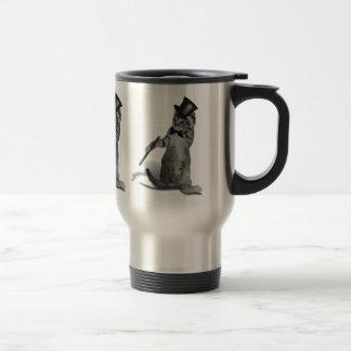 Tap Dancing Cat Stainless Steel Travel Mug