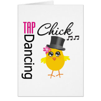 Tap Dancing Chick 2 Greeting Cards