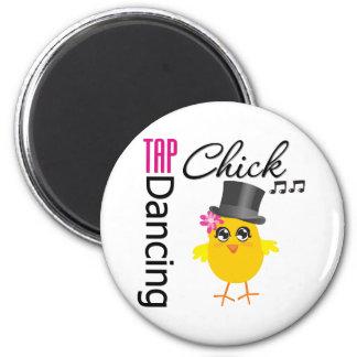 Tap Dancing Chick 2 Refrigerator Magnet