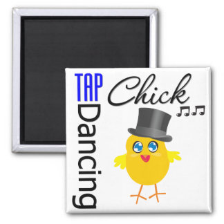 Tap Dancing Chick 3 Magnets