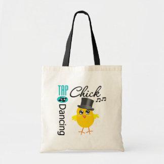 Tap Dancing Chick 5 Budget Tote Bag