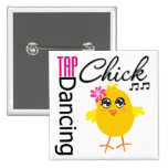 Tap Dancing Chick Pinback Button