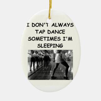 tap dancing christmas ornament