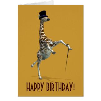 Tap Dancing Giraffe Greeting Card