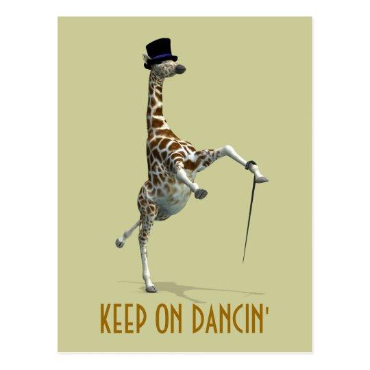 Tap Dancing Giraffe Postcard