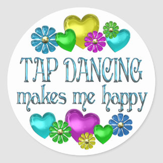 Tap Dancing Happiness Classic Round Sticker