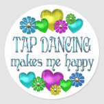 Tap Dancing Happiness Round Sticker