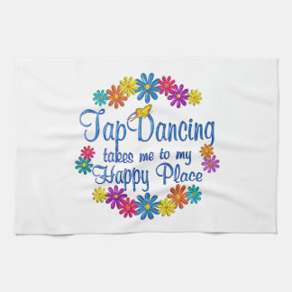 Tap Dancing Happy Place Tea Towel